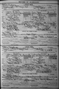 record of marriage