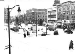 downtown new britain in 1940