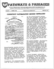 Connecticut Naturalization Records Centralized