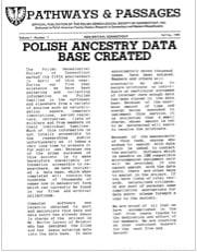 Polish Ancestry Data Base Created