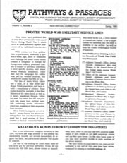 Printed World War I Military Service Lists