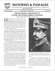 Haller's Army: A Major Part of Polish and Polish-American History