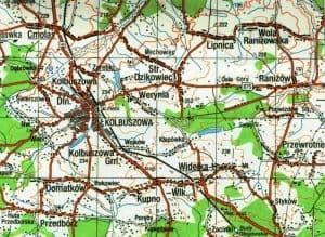 Wola Ranizowska area map