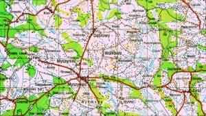 Myszyniec area map