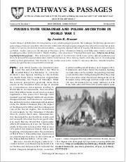 Finding Your Ukrainian and Polish Ancestors in World War I