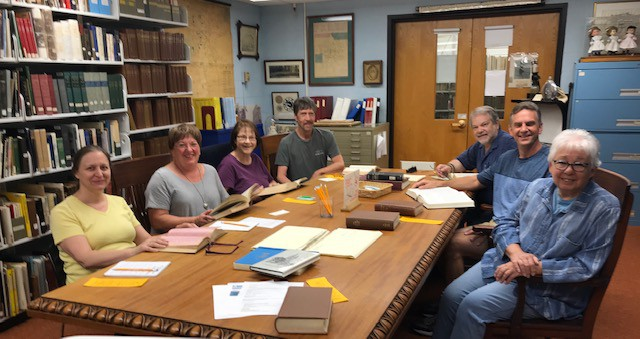 PGSCTNE Visits New Britain Library History Room